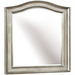 Bowery Hill Vanity Mirror in Metallic Platinum