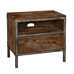 Bowery Hill 1 Drawer Nightstand in Weathered Acacia