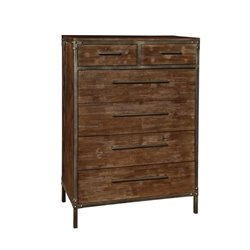 Bowery Hill 6 Drawer Chest in Weathered Acacia