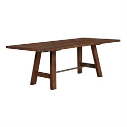 Bowery Hill Dining Table with Metal Accents in Weathered Acacia