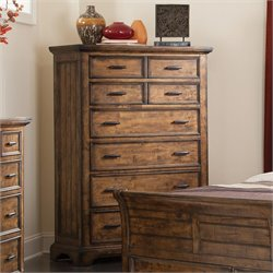 Bowery Hill 6 Drawer Chest in Vintage Bourbon