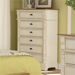 Bowery Hill 6 Drawer Chest in Buttermilk