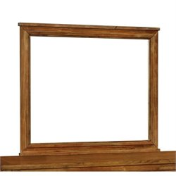 Bowery Hill Wood Frame Mirror in Antique Amber