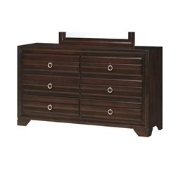 Bowery Hill 6 Drawer Dresser in Cappuccino