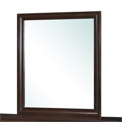 Bowery Hill Wooden Frame Mirror in Cappuccino