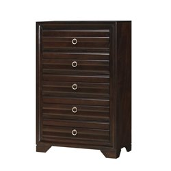 Bowery Hill 5 Drawer Chest in Cappuccino