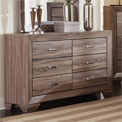 Bowery Hill 6 Drawer Dresser in Washed Taupe