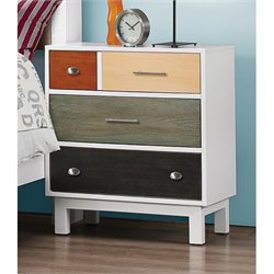 Bowery Hill 4 Drawer Nightstand in White