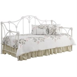 Bowery Hill Twin Floral Daybed in White