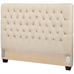Bowery Hill Upholstered Headboard in Oatmeal