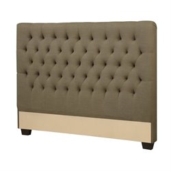 Bowery Hill Upholstered Headboard in Burlap1