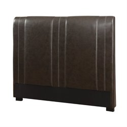 Bowery Hill Faux Leather Headboard in Brown