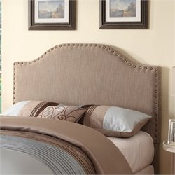 Bowery Hill Upholstered Queen Headboard in Cappuccino