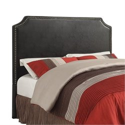 Bowery Hill Upholstered Full Queen Headboard in Black