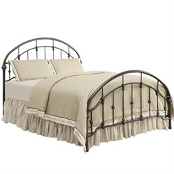 Bowery Hill Metal Bed with Headboard in Bronze
