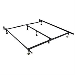 Bowery Hill Queen King California King Bed Frame in Black