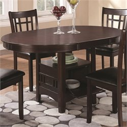 Bowery Hill Dining Table with Storage in Espresso