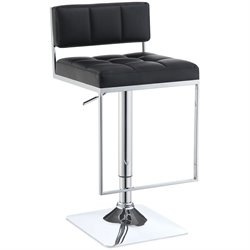 Bowery Hill Adjustable Bar Stool in Black and Chrome