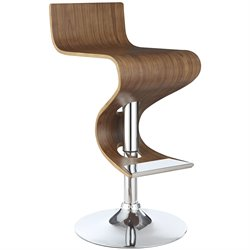 Bowery Hill Adjustable Bar Stool in Walnut