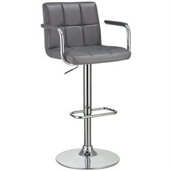 Bowery Hill Adjustable Bar Stool in Gray
