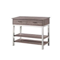 Bowery Hill 2 Drawer 2 Shelf Sideboard in Reclaimed Wood
