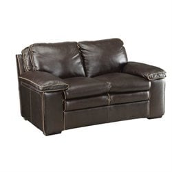 MER-757 Bowery Hill Leather Love Seat1