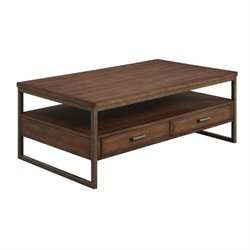 Bowery Hill Storage Coffee Table in Light Brown