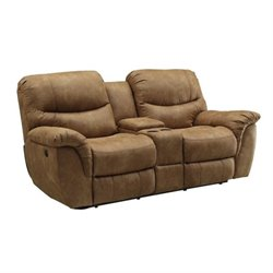 MER-757 Bowery Hill Reclining Love Seat in Light Brown