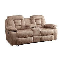 MER-757 Bowery Hill Reclining Love Seat in Bone