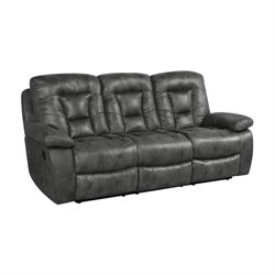 MER-757 Bowery Hill Reclining Sofa in Charcoal