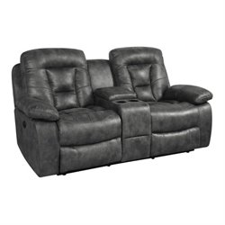 MER-757 Bowery Hill Reclining Love Seat in Charcoal