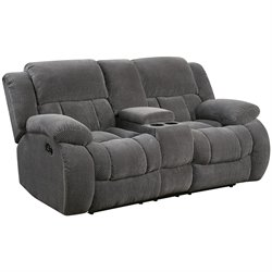 Bowery Hill Reclining Loveseat in Gray