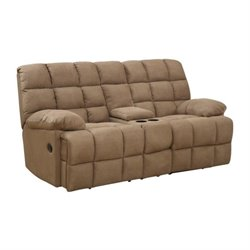 Bowery Hill Motion Reclining Loveseat in Mocha