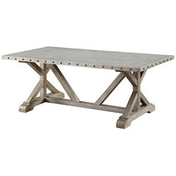 Bowery Hill Rustic Coffee Table in Driftwood
