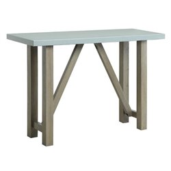 Bowery Hill Concrete Top Console Table in Light Gray