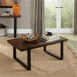 Bowery Hill Coffee Table in Vintage Brown and Black