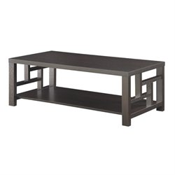 Bowery Hill Window Pane Coffee Table in Cappuccino