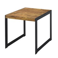 Bowery Hill Rustic End Table in Antique Nutmeg