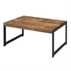 Bowery Hill Rustic Coffee Table in Antique Nutmeg