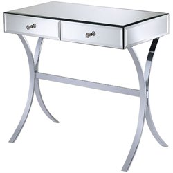 Bowery Hill Storage Console Table in Silver