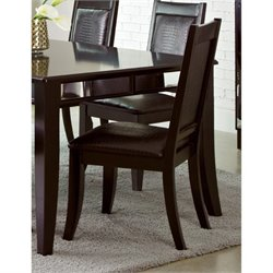 Bowery Hill Faux Leather Dining Chair in Black