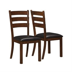 Bowery Hill Ladder Back Dining Chair in Vintage Cinnamon