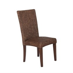 Bowery Hill High Back Woven Dining Chair