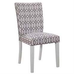Bowery Hill Upholstered Dining Chair in White