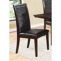 Bowery Hill Faux Leather Upholstered Dining Chair in Black and Brown
