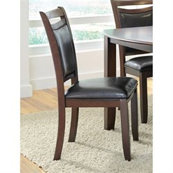Bowery Hill Upholstered Dining Chair in Dark Brown