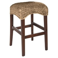 MER-757 Bowery Hill Backless Woven Stool in Natural