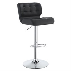 Bowery Hill Upholstered Height Adjustable Bar Stool
