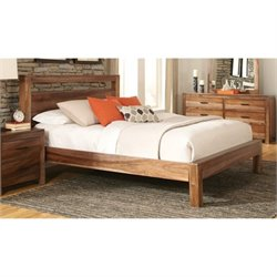 Bowery Hill Platform Bed in Natural Brown