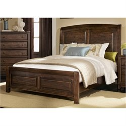 Bowery Hill Sleigh Bed in Cocoa Brown
